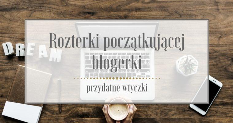 Rozterki początkującej blogerki, czyli przydatne wtyczki