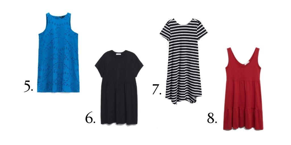 Sieciówkowe sukienki z dobrym składem - lato 2021